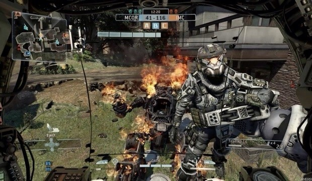6v6 will be the maximum player count for Titanfall