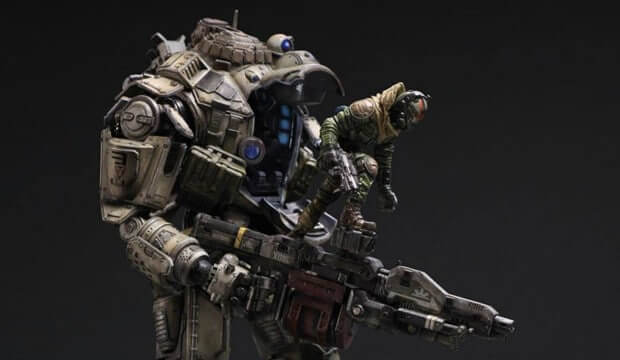 New images of the Titanfall 12″ Militia Atlas Titan by Square Enix Play Arts Kai