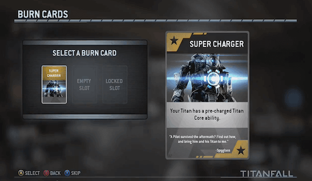 Titanfall will feature a new perk-like feature called Burn Cards