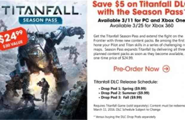 Titanfall DLC releases known as 'Drop Pods', Spring, Summer, Fall release schedule – $9.99 each