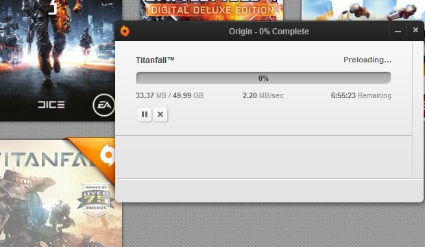 You can now preload Titanfall on Origin – 49.99GB download
